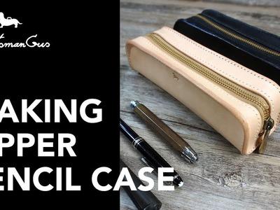 Making a Zipper Pencil Case : #LeatherAddict EP21
