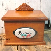 Mothers Day Gift , Wood Recipe Box , Storage Box , Rustic decor , Wood craft , Country Kitchen Decor , Kitchen Decor , Kitchen Storage
