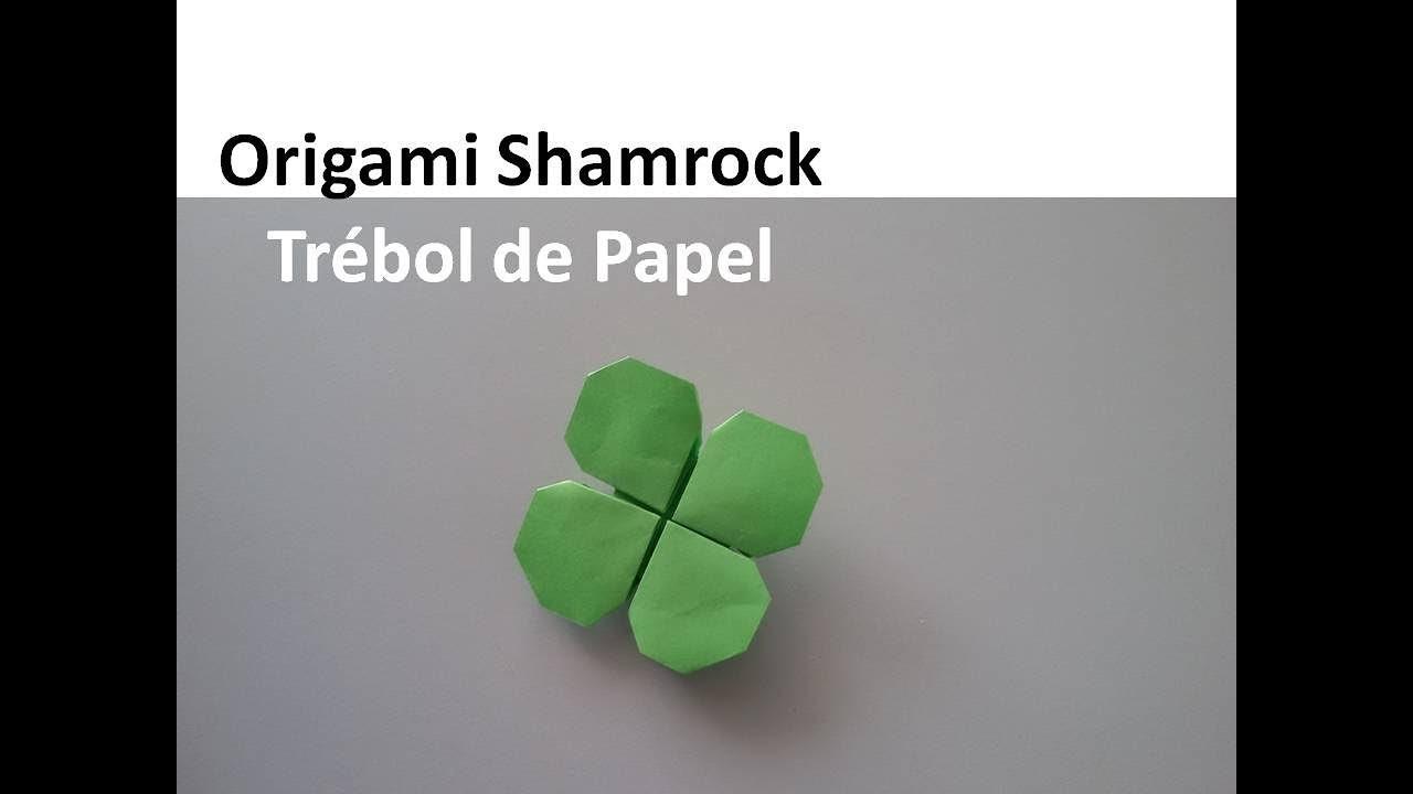 Origami #Shamrock - Trébol de Papel