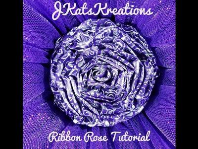 Ribbon Rose Tutorial by JKatsKreations
