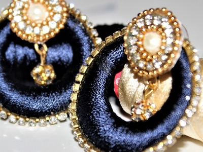 Simple and Beautiful Silk thread earrings.Chandbali Silk Thread Earrings