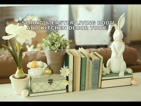 Spring and Easter Living Room and Kitchen Decor Tour