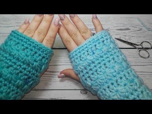 Starr stitch fingerless gloves (LEFT HAND)