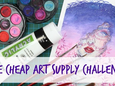The Cheap Art Supply Challenge - WATERCOLOR
