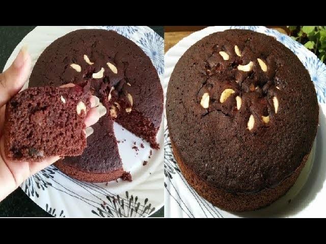कुकर में बनाएं केक | Chocolate Cake recipe| suji cake in cooker | Rava cake | Semolina cake