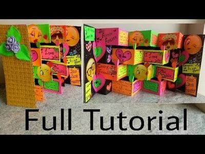 Tutorial (Multifold Colorfull Greeting Card) Full Tutorial