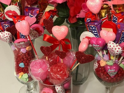 Valentine's Day Candy Bouquets From Start to Finish (1-22-18) (Sorry it's so long!????)