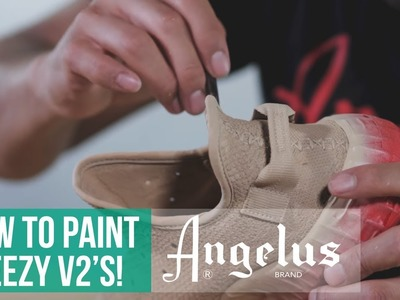 Yeezy Boost 350 V2   How to paint fabric materials   Angelus Paint