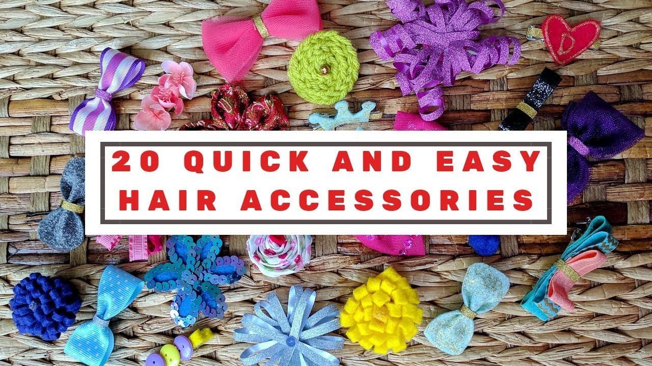 20 quick and easy DIY hair clips tutorial for kids | DIY Hair accessories | DIY My Space