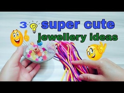 3 super cute craft ideas #DIY | craft and art jewelry ideas||DIY at home
