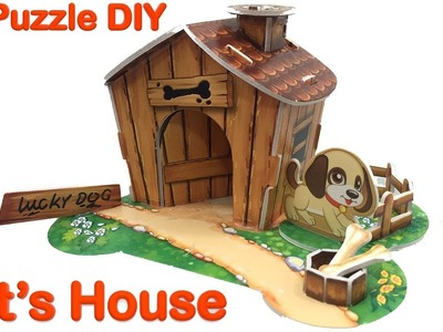3D Puzzle DIY, Pet House Assembly Video | Puppy's House