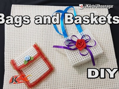 6 Jute Fabric Craft  ✅   How to make Gift Bags and Baskets   JK Arts 1362