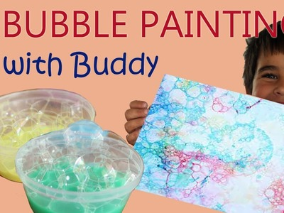 Bubble Painting for Kids | Painting with Bubbles is fun! A great craft DIY