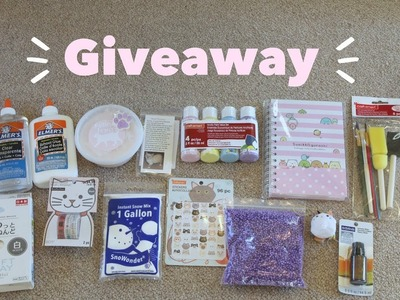[CLOSED] 1000 Subscribers Giveaway! | Slime, Craft Supplies, and More