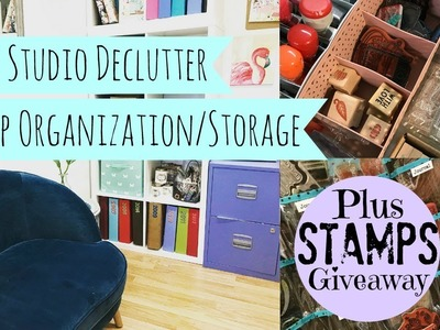 Craft.Art Studio Declutter | Stamp Organization