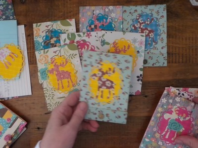 CRAFT FAIR PROJECT: Matchbook Moosies w.Dollar Tree 5.$1.00 notepads and Ditsy Floral
