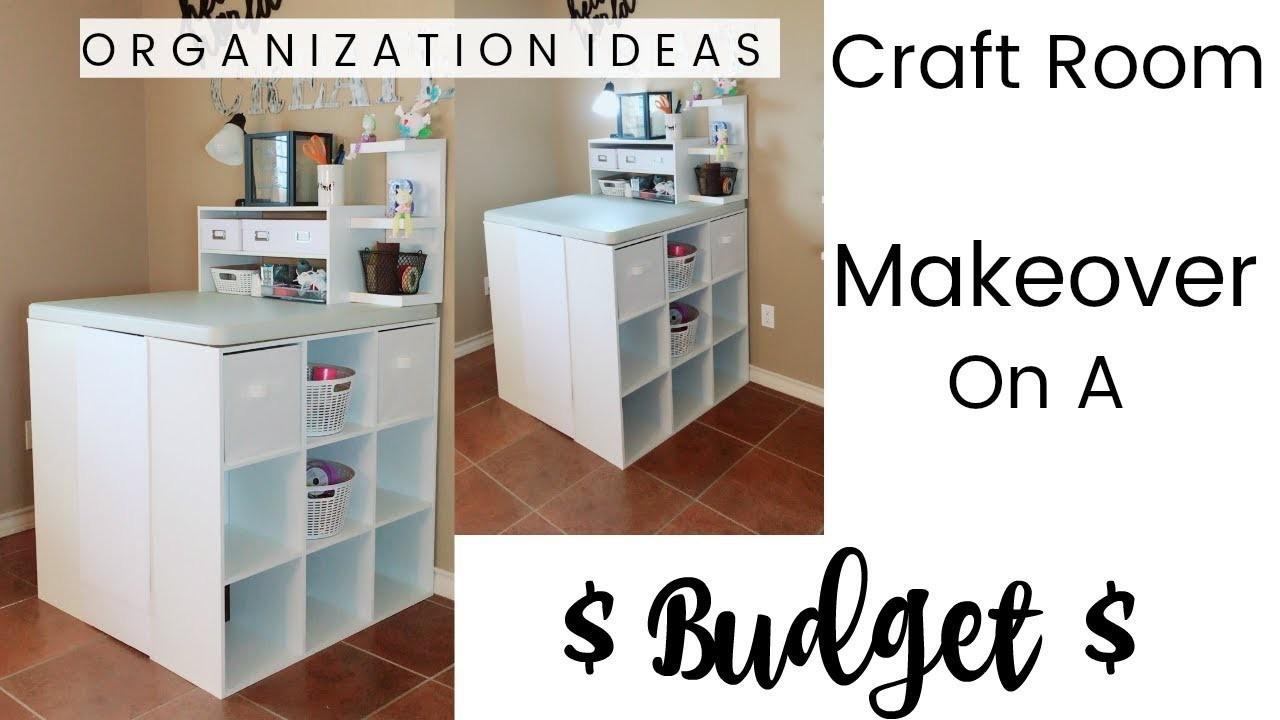 Craft Room Makeover On A Budget   ORGANIZATION IDEAS