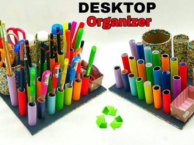 Desktop Organizer - Best out of waste | Recycle - DIY Tutorial - 889