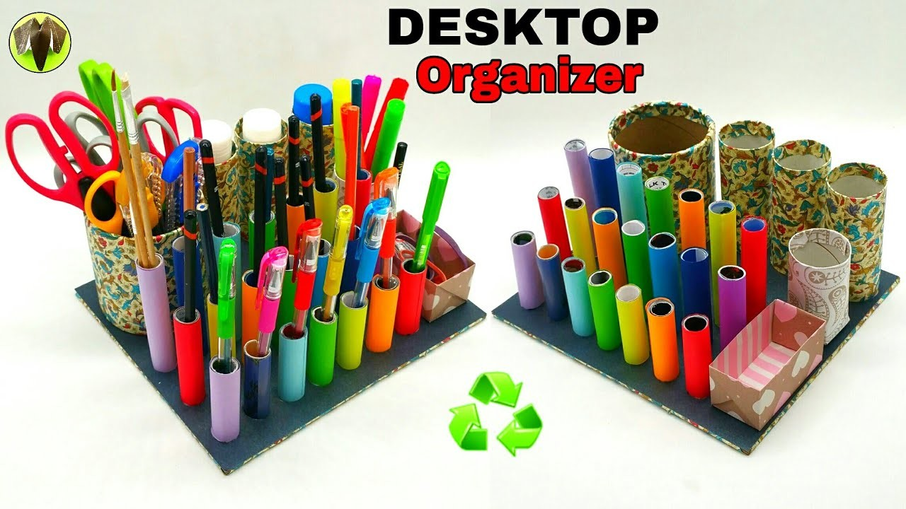 Desktop Organizer - Best out of waste | Recycle - DIY Tutorial - 889