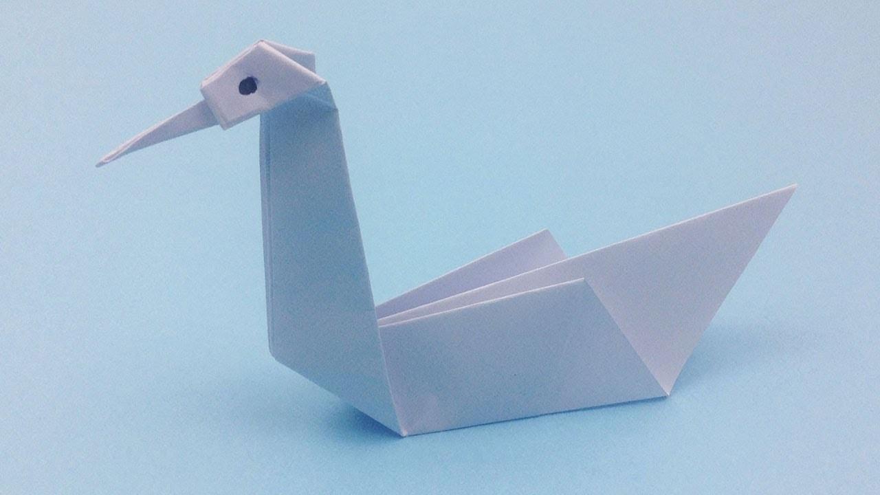 Diy 3d Origami Swan Tutorial How To Make Easy Origami Swan Paper