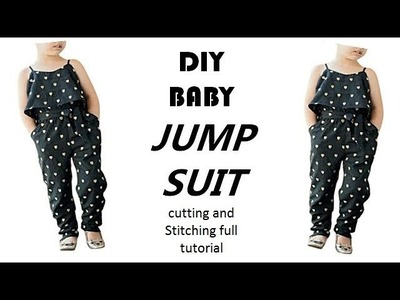 DIY Baby Jump Suit cutting and Stitching full tutorial