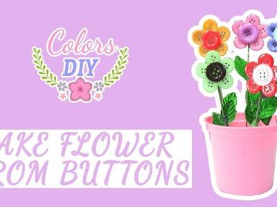 DIY Buttons Flower Craft || Cara Membuat Bunga Dengan Kancing Baju