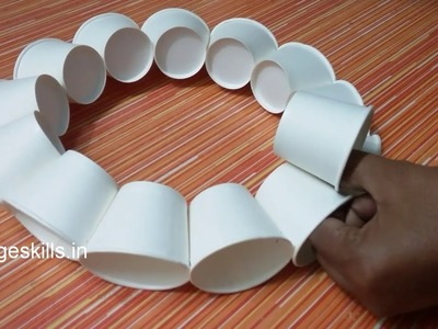 DIY disposable glass craft ideas,tea cup craft,home decor ideas,handmade lamp,how to make bed lamp