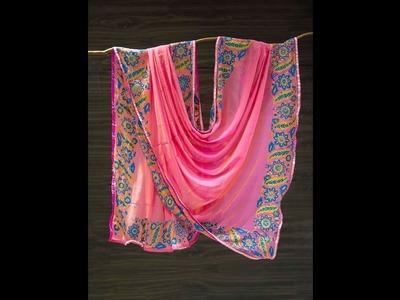 DIY Fabric Painted Dupatta