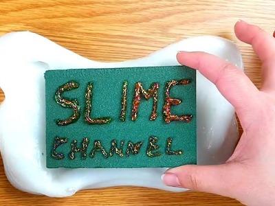 DIY Floral Foam Glitter Slime tutorial