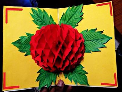 DIY  Flower Pop up Card-Paper Crafts-Handmade Craft- Mother's Day card!