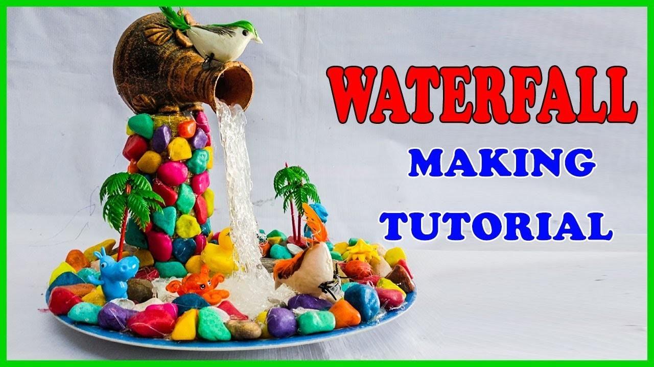 Diy Glue Waterfall Tutorial How To Make Glue Gun Waterfall