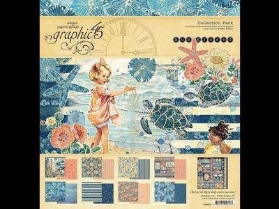 DIY Graphic 45 SunKissed Suitcase mini album tutorial