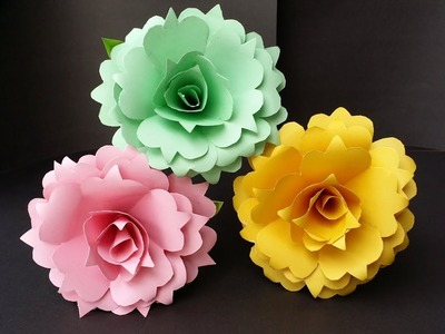 DIY: How to Make Beautiful Realistic Paper Rose!!! Easy Tutorial.