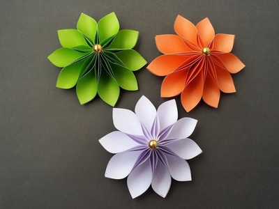 DIY: How to Make Easy & Beautiful Flower With Colour Paper!!!
