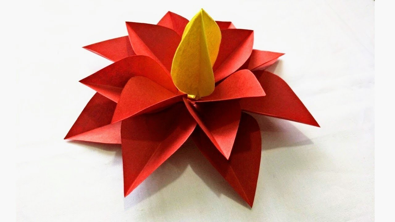 Diy to make easy simple origami flower with colour paper mightylinksfo