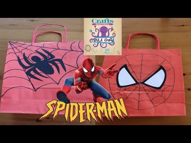 DIY: How to make paper gift bag with SPIDERMAN TUTORIAL