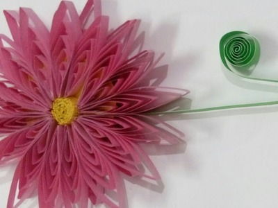 Quilling how to make feather pendant using quilling paper how to diy how to make quilling paper flower through comb mightylinksfo