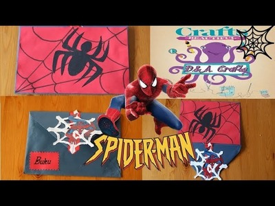 DIY: How to make SPIDERMAN envelope TUTORIAL