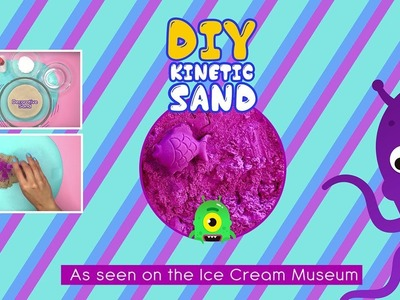 DIY Kinetic Sand as seen in the Museum of ice cream - EZPZ Ideas