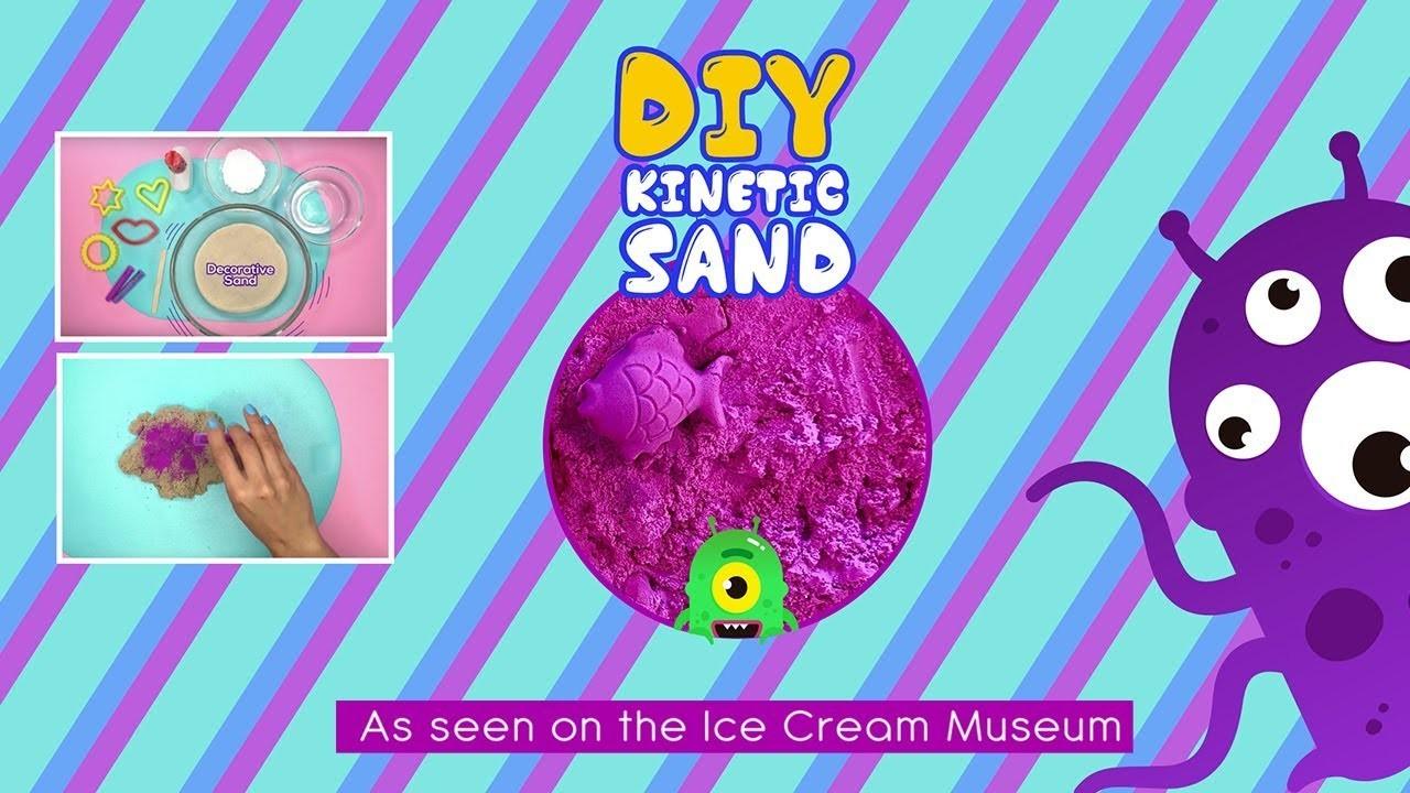 DIY Kinetic Sand as seen in the Museum of ice cream - EZPZ Ideas