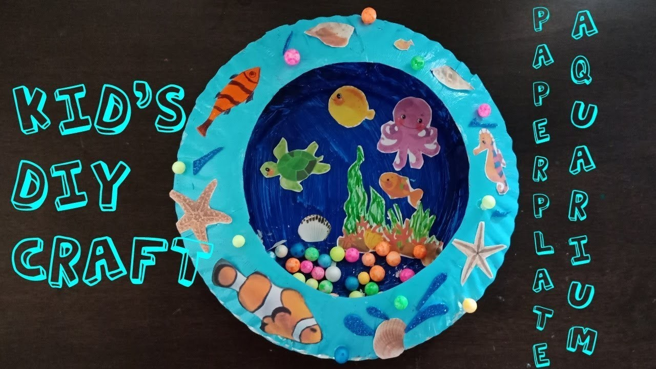 DIY LOVELY PAPER PLATE AQUARIUM TUTORIAL, KIDS ROOM DECOR DIY????