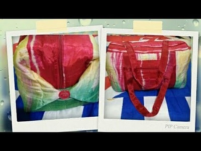DIY : Mini Designer Travel Bag Tutorial By Anamika Mishra. .