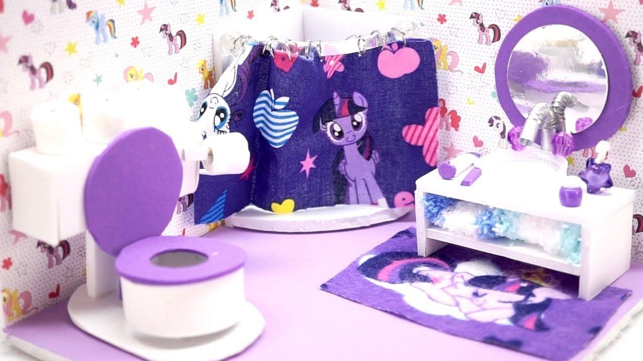 Diy Miniature Dollhouse My Little Pony Bathroom With Toilet