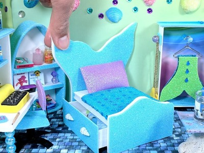 DIY Miniature Mermaid Bed with Drawer for LOL, LPS, or Small Dolls