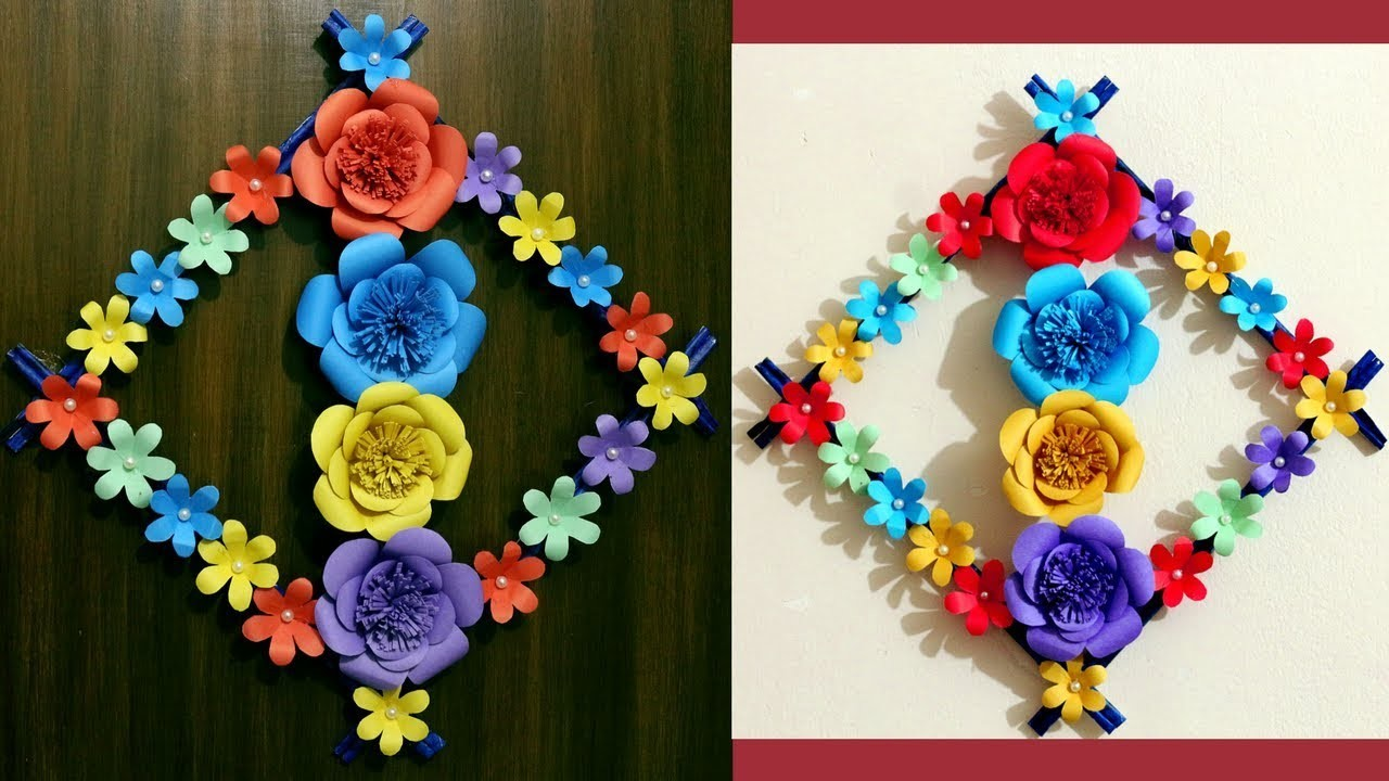DIY Paper crafts - Wall decoration with paper craft - Wall decoration ideas with newspaper & paper
