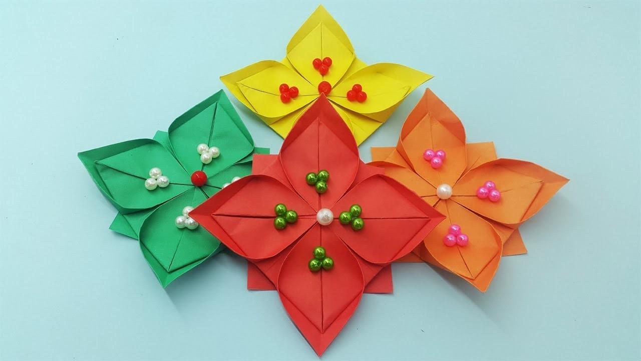 Diy Paper Flowers Tutorial Diy Wall Decoration Hanging Flowers