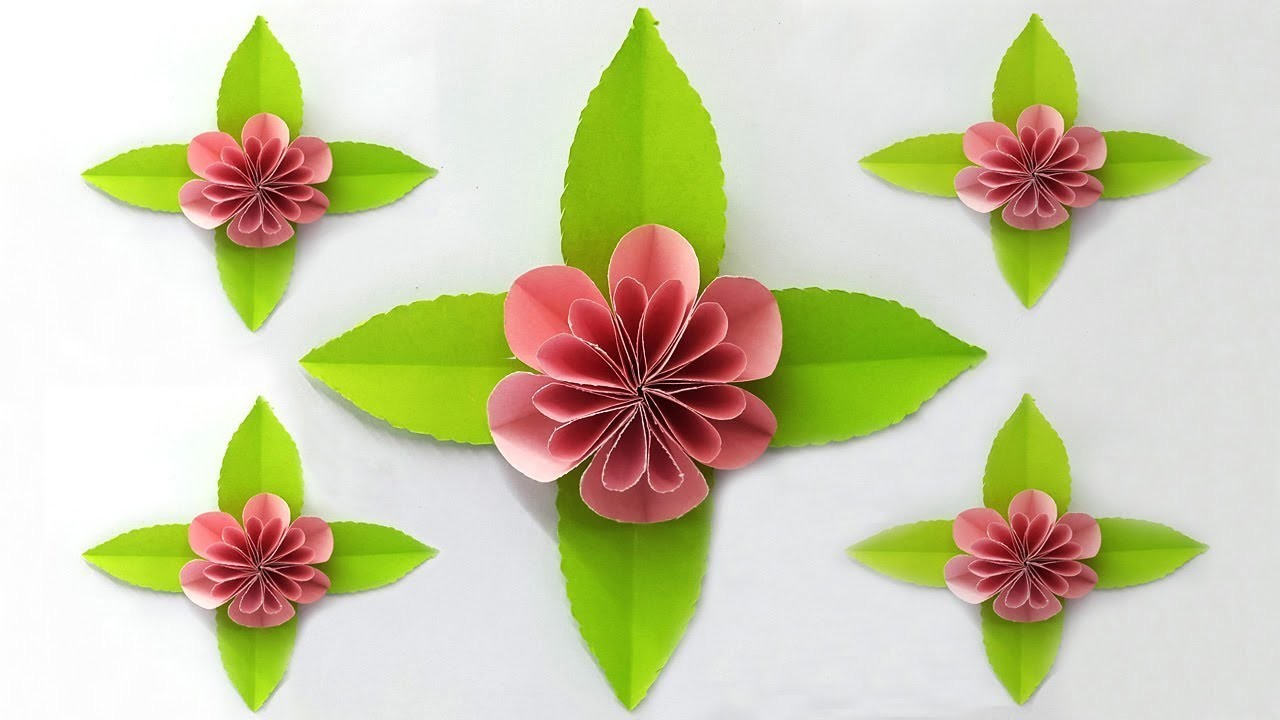 Diy Paper Flowers Wall Art How To Make Paper Flowers Wall Hanging
