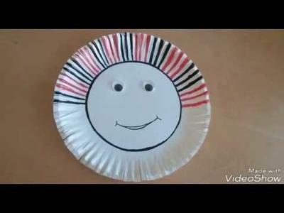 Diy paper plate crafts    simple paper craft    crafts for beginners     paper plates    ks lakshmi