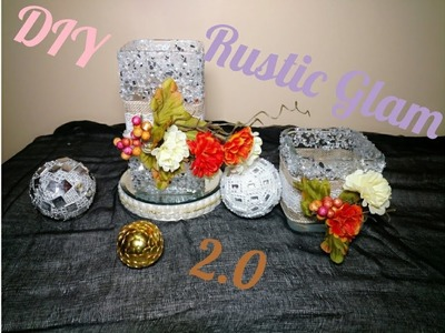 DIY  Rustic Glam Centerpiece 2.0  Easy Budget Bride Decor