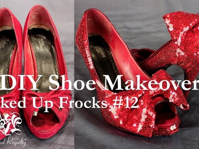 DIY Sequin Shoe Makeover Tutorial - Rocked Up Frocks by Rockstars and Royalty #12